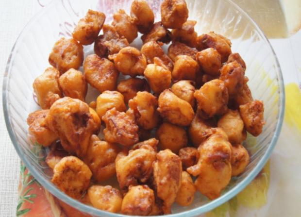 Hähnchenbrustfiletwürfel im Bierteig mit Chinesischen Nudeln und Gemüse - Rezept - Bild Nr. 3