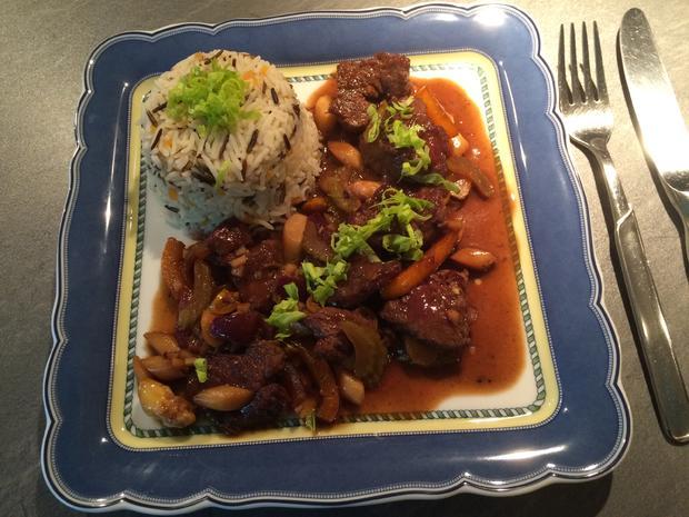 Rinderfilet mit Spargel und frischem Gemüse auf asiatische Art - Rezept - Bild Nr. 28