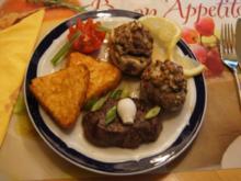 Rinderfilet mit gefüllten Champignons und Knusper-Rösti-Ecken - Rezept - Bild Nr. 48