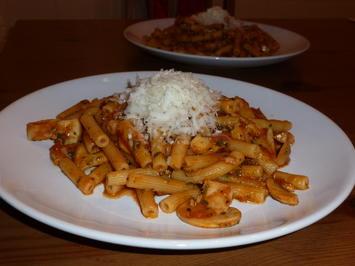 Rigatoni - Fungi-aglio olio-Pomodoro-Arrabiata - Rezept - Bild Nr. 41