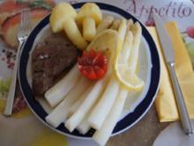 Spargel mit Rinderfilet und Kartoffelpilzen - Rezept - Bild Nr. 48