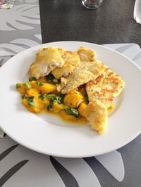 Goldbutt auf Mangosalat - Rezept