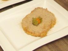Ananas-Beignets mit Zimt-Limetten-Zucker und selbstgemachtem Vanilleeis mit Früchten - Rezept