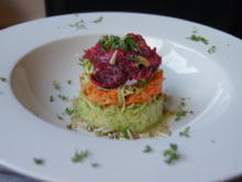 Buntes Gemüse-Türmchen mit Avocado- Senfdressing - Rezept - Bild Nr. 49