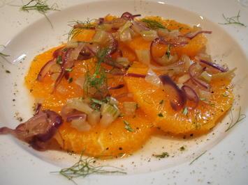 Salate: Orangen-Fenchel-Salat - Rezept