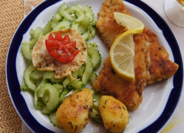 Rotbarsch-Filet mit Chinesischen-Gurkensalat und Rosmarin-Kartoffeln - Rezept - Bild Nr. 69