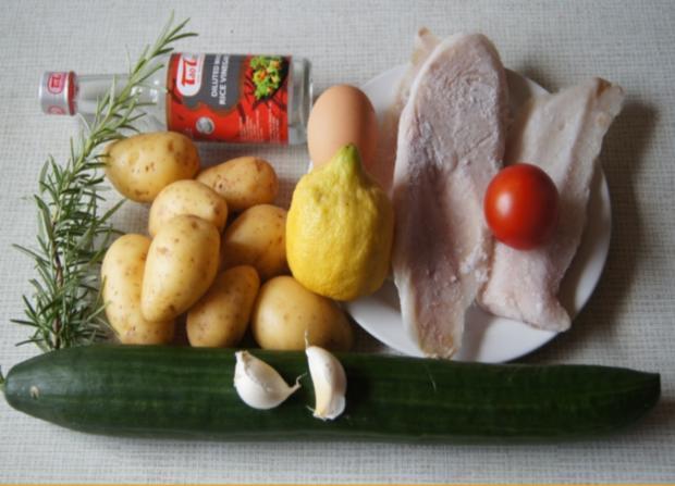 Rotbarsch-Filet mit Chinesischen-Gurkensalat und Rosmarin-Kartoffeln - Rezept - Bild Nr. 79