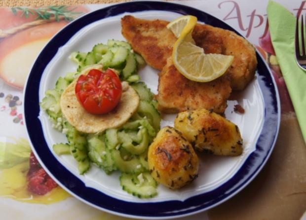 Rotbarsch-Filet mit Chinesischen-Gurkensalat und Rosmarin-Kartoffeln - Rezept - Bild Nr. 84