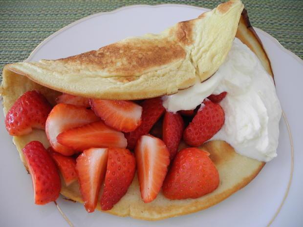 Kokos - Eier - Pfannkuchen mit Sahne und Erdbeeren - Rezept - Bild Nr. 70