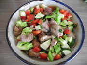 Putengulasch mit Gemüse im Keramiktopf a.d. Backofen - Rezept - Bild Nr. 73
