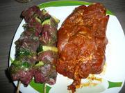 Es wird gegrillt : Rindfleisch -Zucchinispieße + Schwenkbraten + Beilagen. - Rezept - Bild Nr. 101