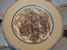 Zuppa di carciofi con pasta fresca - Rezept