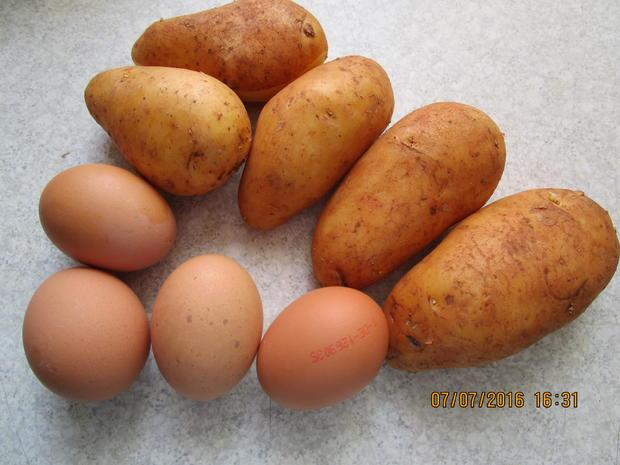 Omelett mit Kartoffeln und Garnelen - Rezept - Bild Nr. 101