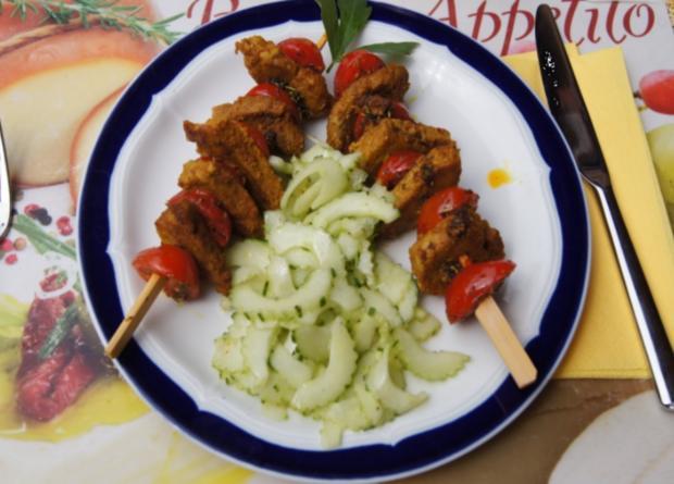 Schweinefiletspieße mit chinesischen Gurkensalat - Rezept - Bild Nr. 35