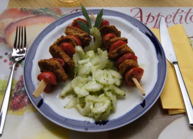 Schweinefiletspieße mit chinesischen Gurkensalat - Rezept - Bild Nr. 42