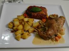 Coniglio alla Siciliana mit Parmiggiana und Patate al Forno - Rezept - Bild Nr. 29