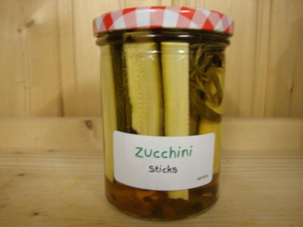eingelegte Zucchini Sticks - Rezept