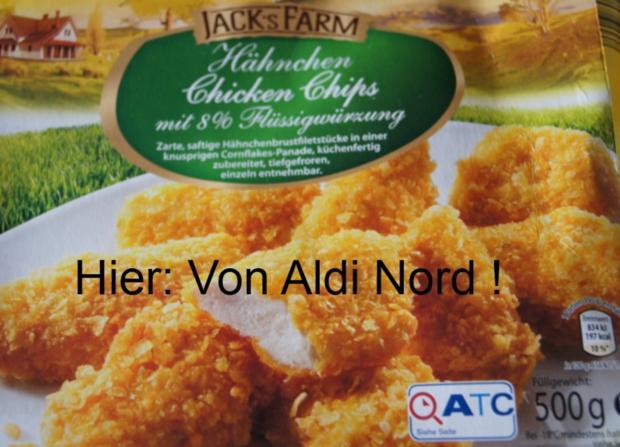Hähnchen Chicken Chips mit karamellisierten Möhren - Rezept - Bild Nr. 3