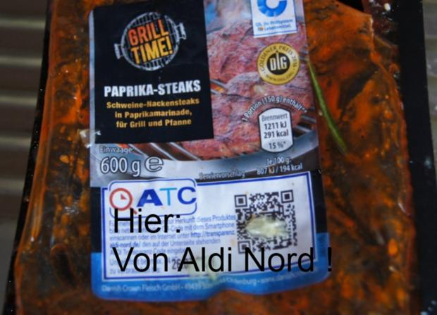 Paprika-Steaks mit Chinesischen Gurkensalat - Rezept - Bild Nr. 2