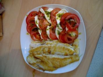 Viktoriabarsch an Tomaten und Mozarella - Rezept