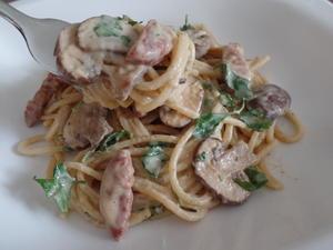Spaghetti mit Chorizo-Pilz-Käse -Sauce - Rezept - Bild Nr. 54