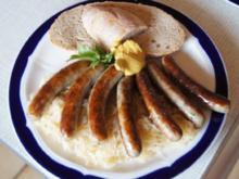 Nürnberger Rostbratwürste mit Sauerkraut und Bauernbrot - Rezept - Bild Nr. 56