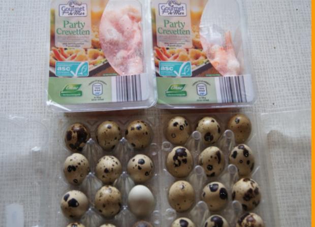 Curry-Wachteleier-Salat und Party-Crevetten - Rezept - Bild Nr. 73