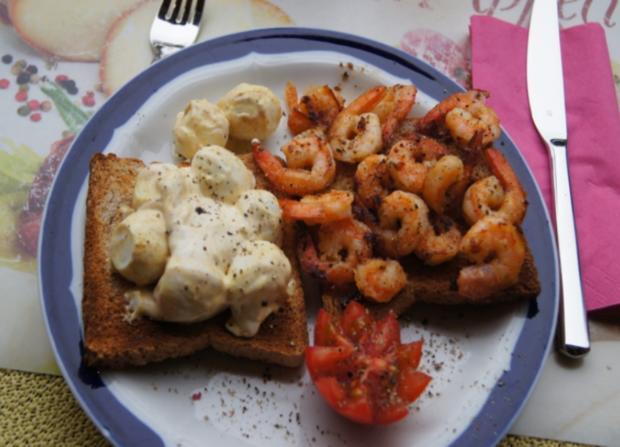 Curry-Wachteleier-Salat und Party-Crevetten - Rezept - Bild Nr. 79