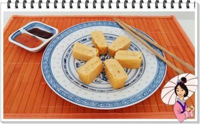 Rezept: Tamagoyaki-Japanisches-gerolltes-Omelett