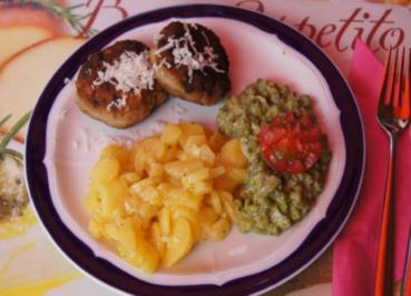 Pikante Fleischpflanzerl mit Kren, Schwäbischen Kartoffelsalat und Erbsenstampf - Rezept - Bild Nr. 76