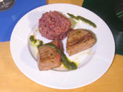 Lammrücken / Granatapfel Risotto / Minzpesto - Rezept