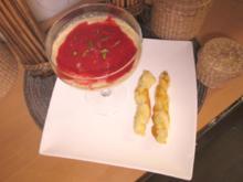 Caipirinha Creme / Himbeere-Deckel / Dipstick - Rezept