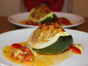 Zucchini gefüllt mit Bratwurstbrät & Käse - Rezept - Bild Nr. 106