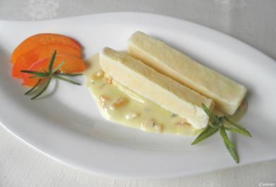 Rosmarin - Parfait ...  auf einer mediterranen weißen Schokoladen - Sauce ... - Rezept - Bild Nr. 133