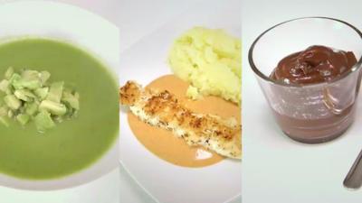 Blitzmenü: Erbsen-Minz-Suppe, Hähnchenspieße, Schokocreme - Rezept - Bild Nr. 133