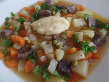 Gemüsesuppe mit Griesnockerln - Rezept - Bild Nr. 133