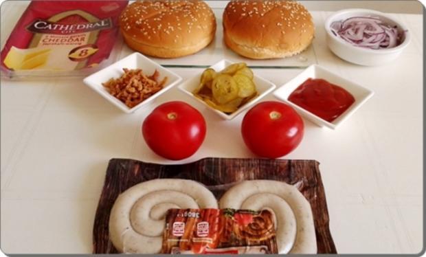 Mega Burger mit Bratwurstschnecke und… - Rezept - Bild Nr. 148