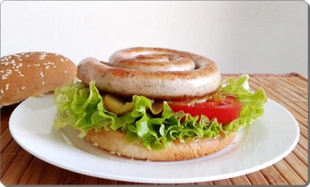 Mega Burger mit Bratwurstschnecke und… - Rezept - Bild Nr. 158