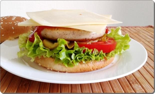 Mega Burger mit Bratwurstschnecke und… - Rezept - Bild Nr. 160