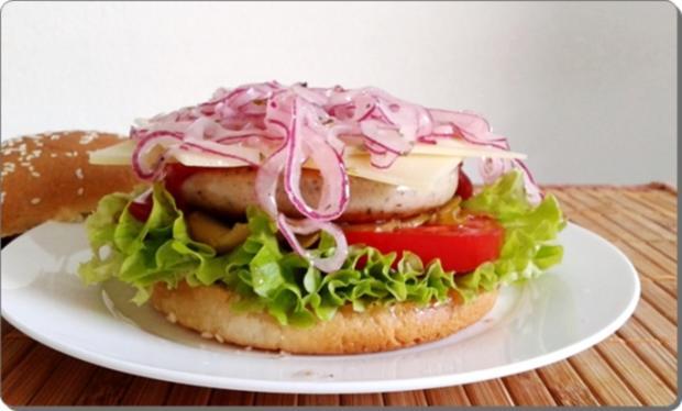 Mega Burger mit Bratwurstschnecke und… - Rezept - Bild Nr. 163