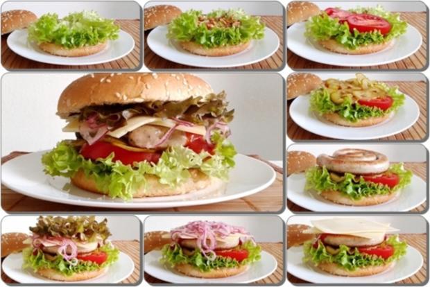 Mega Burger mit Bratwurstschnecke und… - Rezept - Bild Nr. 168