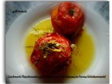 Geschmorte Fleischtomaten,gefüllt mit Safran-Risotto,im Parma-Schinkenmantel - Rezept - Bild Nr. 146