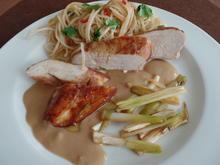 Hähnchenbrust mit Erdnuss-Sauce und Reisnudelsalat - Rezept - Bild Nr. 153