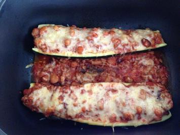 Gefüllte Zucchini mit Hülsenfrüchten - Rezept - Bild Nr. 5