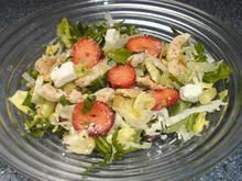 Salat mit Erdbeeren, Hähnchenstreifen und Feta - Rezept - Bild Nr. 170