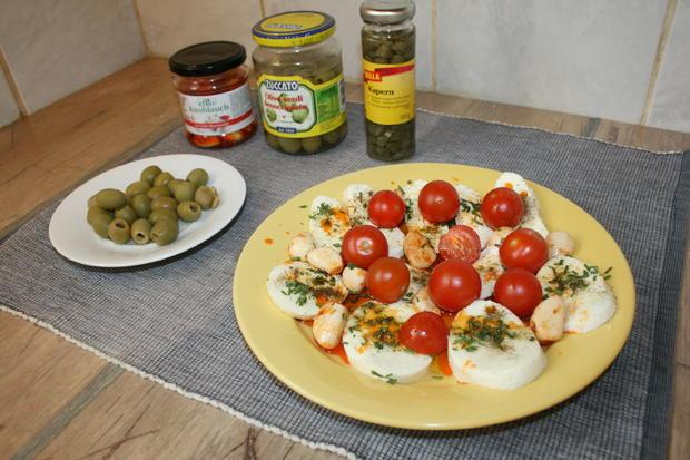 Mozzarella mit Knoblauch in Chillimarinade mit Cherrytomaten - Rezept - Bild Nr. 189