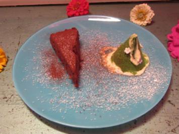 Dunkle Schokoladentorte / Obstblütenhonig-Eis - Rezept - Bild Nr. 189