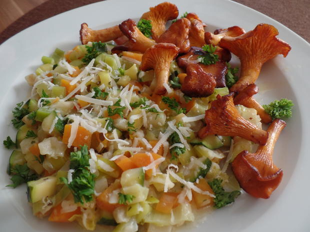 Gemüse-Risotto mit Pfifferlingen - Rezept - Bild Nr. 202
