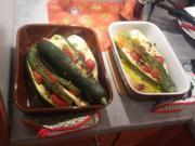 gebackene Zucchini | längs eigegeschnitten, mit Feta und Tomate - Rezept - Bild Nr. 224