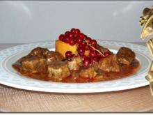 Hirsch-Edelgulasch  und Süßkartoffel-Türmchen - Rezept - Bild Nr. 227
